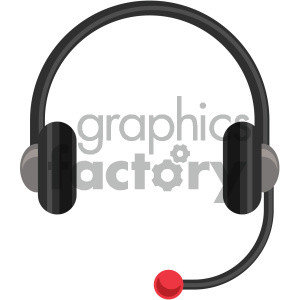 headphones vector flat icon clipart. Royalty-free image # 405827