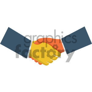handshake vector flat icon clipart. Commercial use image # 405842