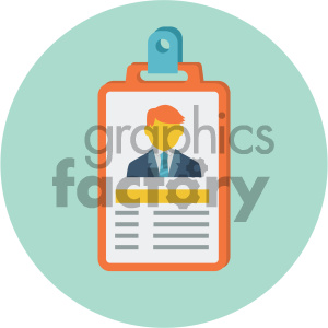 id card circle background vector flat icon clipart. Commercial use image # 405854