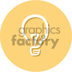 light bulb circle background vector flat icon clipart. Royalty-free image # 405869