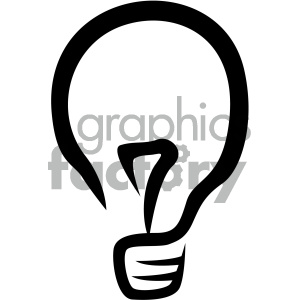 light bulb vector flat icon clipart. Royalty-free image # 405874