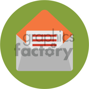 mail circle background vector flat icon clipart. Royalty-free image # 405887