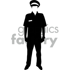 black and white pilot vector art clipart. Royalty-free image # 405894