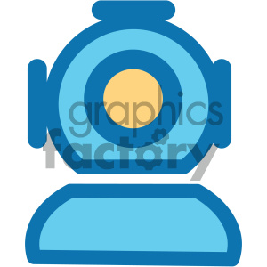 deep sea diver helmet ocean icon clipart. Royalty-free image # 405921