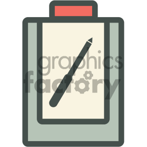 doctor clipboard medical vector icon clipart. Royalty-free image # 405969