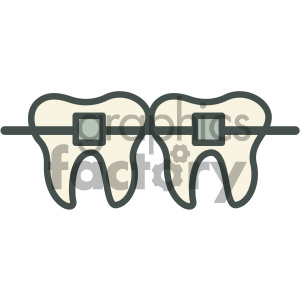 braces dental vector flat icon designs clipart. Royalty-free image # 405970
