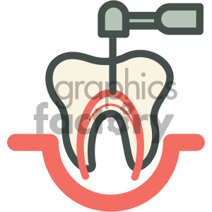 root canal dental vector flat icon designs clipart. Royalty-free image # 405971