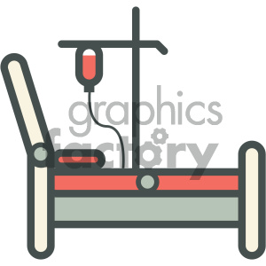 hospital bed medical vector icon clipart. Royalty-free image # 405976