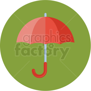 umbrella icon with green circle background