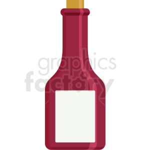 red corked bottle clipart. Royalty-free image # 406063