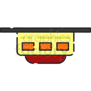 fire detector vector icon art
