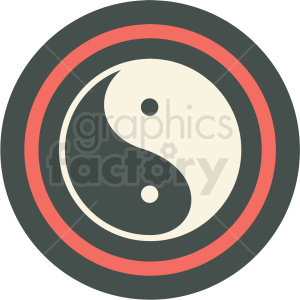 yin and yang icon clipart. Royalty-free image # 406171