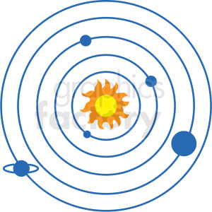 solar system vector icon clipart. Royalty-free icon # 406241