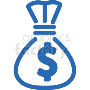 money bag vector icon clipart. Royalty-free image # 406293