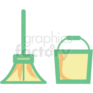 mop bucket flat vector icon clipart. Royalty-free image # 406308