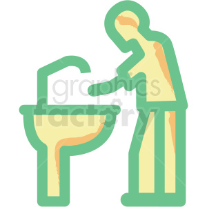 washing hands flat vector icon clipart. Royalty-free image # 406318
