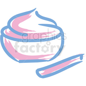 bowl of face cream cosmetic vector icons clipart. Royalty-free image # 406326