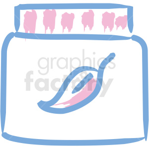 jar of cream cosmetic vector icons clipart. Royalty-free image # 406340