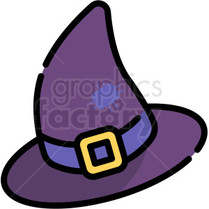 Halloween witch hat clipart. Royalty-free image # 406360