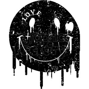 modern smile face blacked out distressed clipart. Royalty-free image # 406368