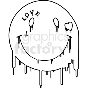 modern smile face outlined clipart. Commercial use image # 406370