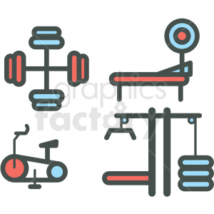 fitness vector icon clipart. Commercial use icon # 406390