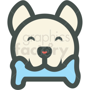 dog with bone vector icon