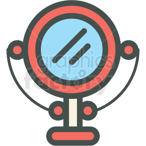 makeup mirror vector icon clipart. Royalty-free image # 406412