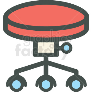 office stool vector icon clipart. Royalty-free image # 406420