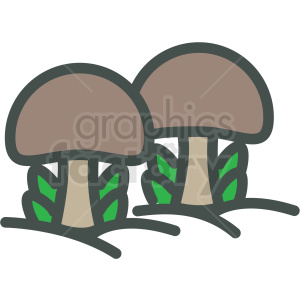 mushroom vector icon clipart. Royalty-free image # 406442