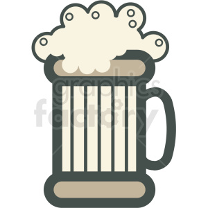 beer mug vector icon clipart. Royalty-free image # 406484
