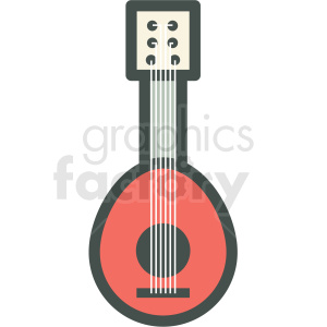 vertical guitar vector icon image clipart. Royalty-free image # 406564