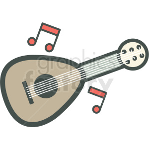 guitar vector icon image clipart. Commercial use image # 406569