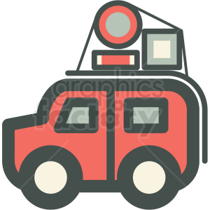 truck packed for vacation vector icon image clipart. Royalty-free image # 406579