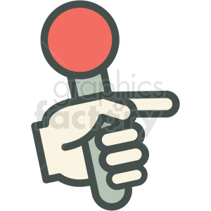 hand holding microphone vector icon image clipart. Commercial use image # 406588