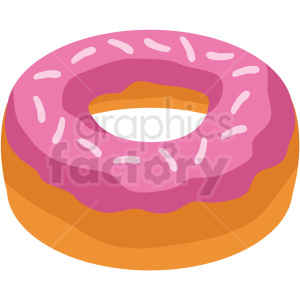 donut vector flat icon clipart with no background clipart. Royalty-free image # 406708