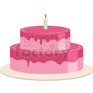 two layer cake vector flat icon clipart with no background clipart. Royalty-free icon # 406729