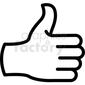 thumbs up back of hand vector icon clipart. Commercial use image # 406789