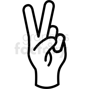 hand peace gesture vector icon clipart. Commercial use image # 406812