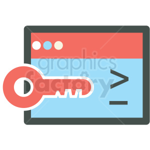 private key ssl web hosting vector icons clipart. Commercial use image # 406842