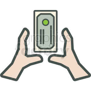 money grab vector icon clipart. Commercial use image # 406868