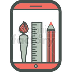 painting app smart device vector icon clipart. Commercial use image # 406869