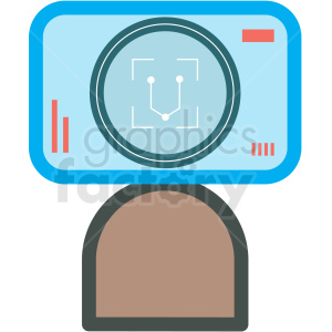 facial recognition vector icon clipart. Commercial use image # 406871