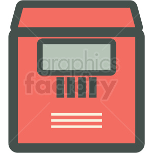 safety deposit box vector icon clipart. Commercial use image # 406901
