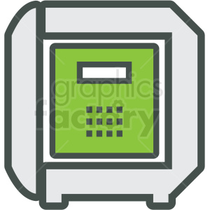 money safe vector icon clipart. Royalty-free image # 406920