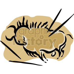 A Bull with several Spears in it clipart. Royalty-free image # 156269