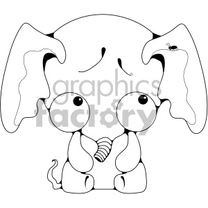 cute baby elephant clipart. Royalty-free image # 406981