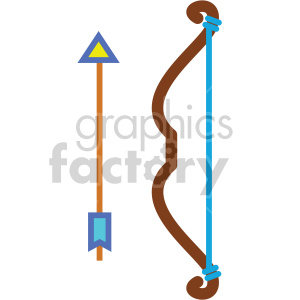 resting bow and arrow vector icons clipart. Royalty-free image # 407110