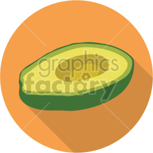avocado on circle background flat icon clip art clipart. Royalty-free image # 407151