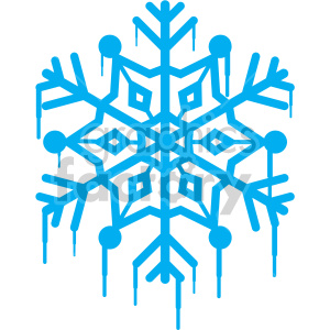melting blue snowflake rf clip art clipart. Commercial use image # 407206